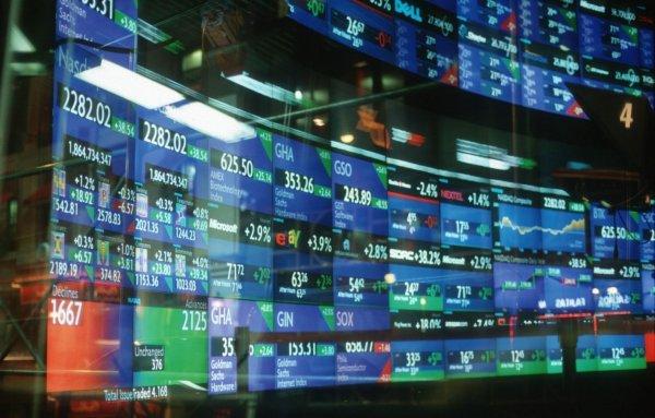 Московская биржа прекратила работу в зеленой зоне