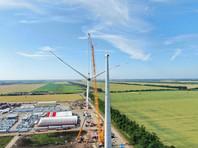На площадке Адыгейской ВЭС завершен монтаж первой ветроустановки